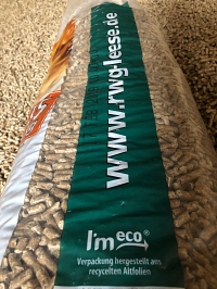 I'm eco - Neue Holzpellets-Verpackung
